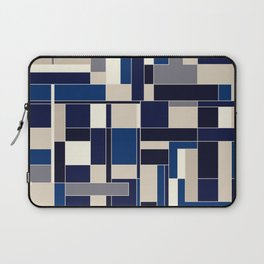 Blue abstract city Laptop Sleeve