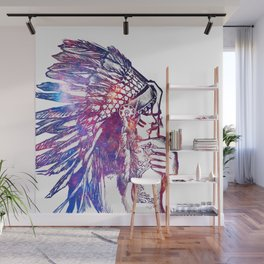 Space Indian Wall Mural