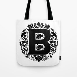 Letter B monogram wildwood Tote Bag
