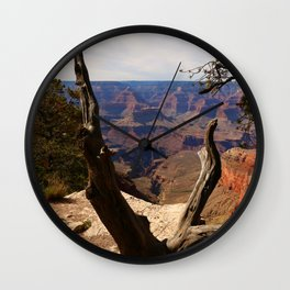 Grand Canyon View Through Dead Tree Wall Clock