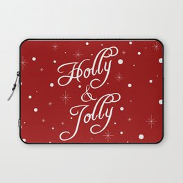 Holly and Jolly Holiday Design Laptop Sleeve