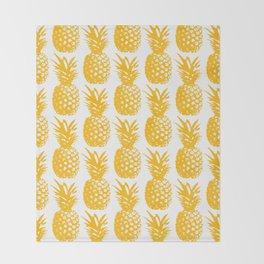 Pineapple Brunch  Throw Blanket