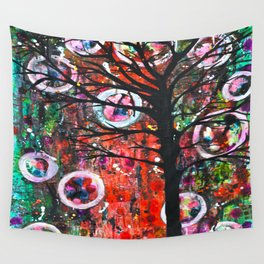 Abstract Tree Wall Tapestry