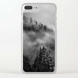 Snow Lake Mountain Clear iPhone Case