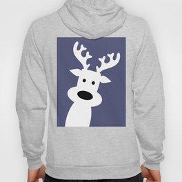 Reindeer on blue background Hoody