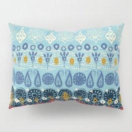 lotus block blue Pillow Sham