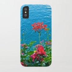 Chapel Bridge Flowers iPhone X Slim Case