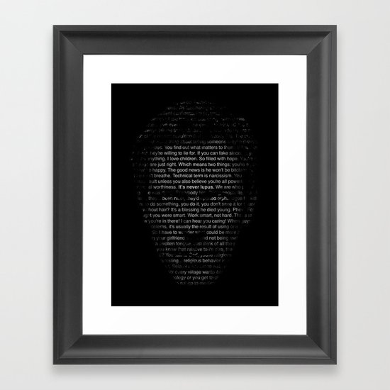House MD Quotes Print (It's never lupus) Framed Art Print