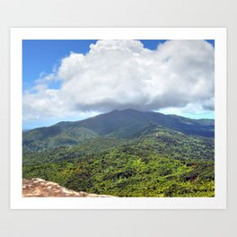 East peak view from Mt Britton at 3,000 feet - El Yunque rainforest PR Art Print