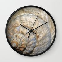 shell Wall Clocks featuring Shell by Brian Raggatt