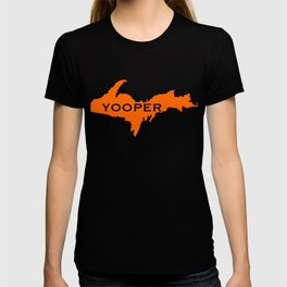 Yooper Hunter Blaze Orange Michigan UP design T-shirt