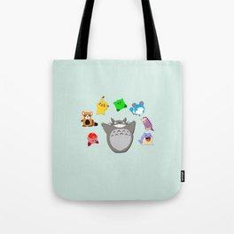 Video game Anime Character Rainbow Tote Bag