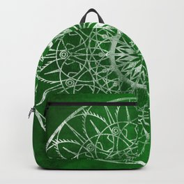 Fire Blossom - Emerald Backpack