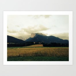 Harvest before rain Art Print