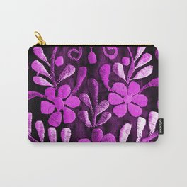 Violet Mexican Flowers Carry-All Pouch