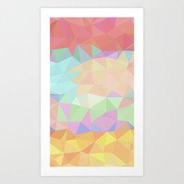 Pink to Gold Prisms Art Print