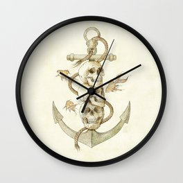 Three Missing Pirates Wall Clock