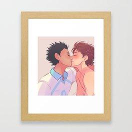 Smooch Framed Art Print