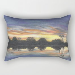 Sunset In My Backyard Rectangular Pillow