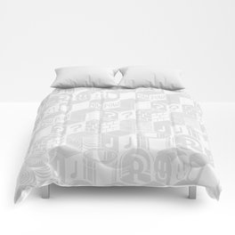 SUPER MARIO BLOCK-OUT! (White Edition) Comforters