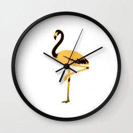 Golden  flamingo Wall Clock
