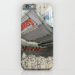Times Square Sketch, Subway sketch, New York iPhone Case