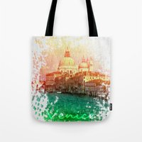 venice Tote Bags featuring Venice by GingerRogers