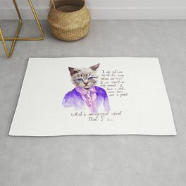 Fashion Mr. Cat Karl Lagerfeld and Chanel Rug