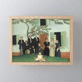 """Henri Rousseau """"The Family (La Famille)"""" Framed Mini Art Print"""
