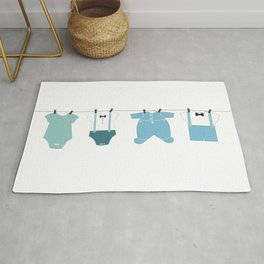It's a boy. Welcome, baby arrival body suits Rug