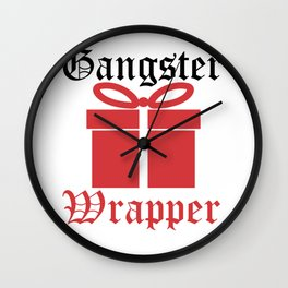 Gangster Wrapper - Christmas Present Wall Clock