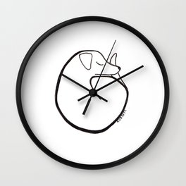curly dog Wall Clock