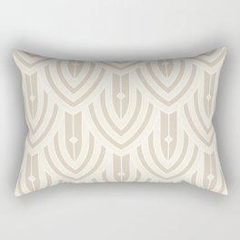 Deco Peacock - Cream Rectangular Pillow