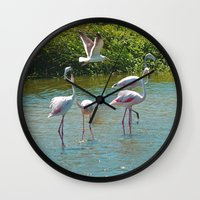 lovers Wall Clocks featuring Lovers by CrismanArt
