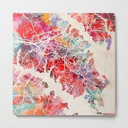 Annapolis map Maryland MD Metal Print