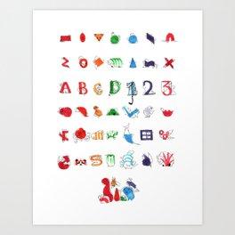 Geominals Art Print