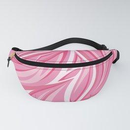 Pink abstract leaf pattern. Digital batik pattern. Vector illustration background Fanny Pack