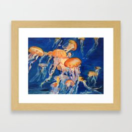 Jellyfish of the Deep Framed Art Print