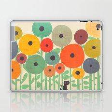 Cat in flower garden Laptop & iPad Skin