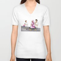 sterek V-neck T-shirts featuring Baker Sterek by Finduilas
