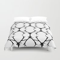 antlers Duvet Covers featuring Antlers by Freddie Meagher