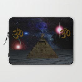OM and the space Pyramid Laptop Sleeve