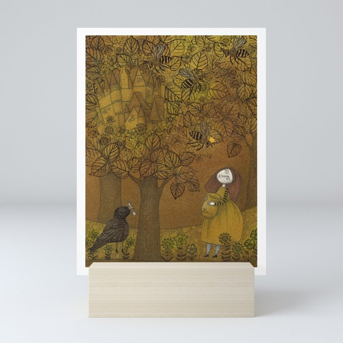 The Queen of Bees and the Princess who loved Honey Mini Art Print