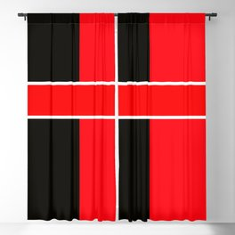 Team Colors 6...red,black,white Blackout Curtain