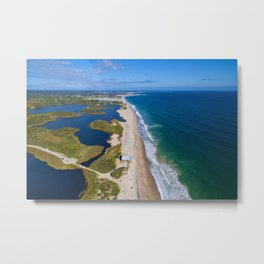 Moonstone Barrier Beach, South Kingstown, Rhode Island South County Metal Print