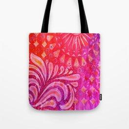 Joy in Orange and Purple Tote Bag
