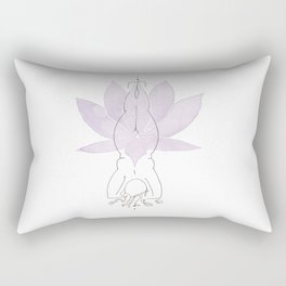 Lotus Headstand Rectangular Pillow