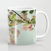 blush Mugs featuring Blush by Bella Blue Photography