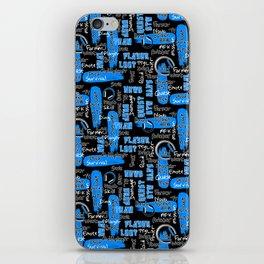 Gamer Lingo-Black and Blue iPhone Skin
