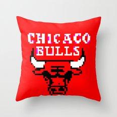 Bulls Bulls Bulls Throw Pillow